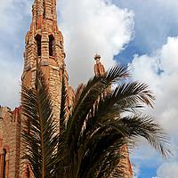 Europe, Spain, Novelda. Santa María Magdalena, built by disciple of Gaudi.