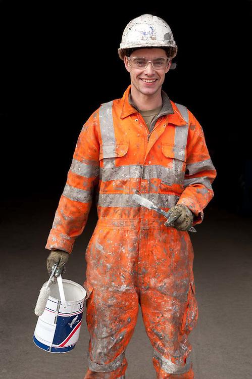 Worker at Paddington Station.