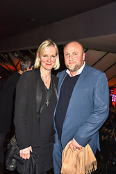 Hermione Norris and Simon Wheeler at the Costa Book of The Year Award held at  Quaglino's, 16 Bury Street, London, England. 29 January 2019. <br /> <br /> ***For fees please contact us prior to publication***
