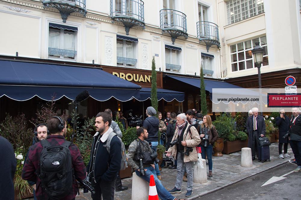 Prix Goncourt 2019 Restaurant Drouant Lundi 4 Novembre 2019 Paris