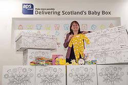 Pictured: Maree Todd <br /><br />Children's Minister Maree Todd visited the APS distribution centre in Edinburgh where the baby boxes are printed, filled and distributed, to meet the young people behind the new baby box design.  The winning design was created by young people from Macduff, Auchterarder, Barrhead, Kilmacolm and Edinburgh as a result of a nationwide Young Scot competition celebrating the Year of Young People.<br /><br />Ms Todd presented an award to the winning design team and unveiled the redesigned baby box.<br /><br /><br />Ger Harley | EEm 27 March 2019