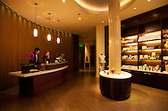 The check-in lobby at the Spa at the Allison Inn in Newberg, Oregon, in the heart of Oregon Wine Country.