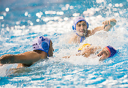 Damir Buric of Primorje vs Konstantinos Mourikis of Olympiacos during water polo match between Primorje Erste Bank (CRO) and Olympiacos Piraeus (GRE) in 8th Round of Champions League 2016, on April 16, 2016 in Kantrida pool, Rijeka, Croatia. Photo by Vid Ponikvar / Sportida