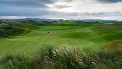 View of Machrie Golf Links golf course on Islay. In Inner Hebrides, Scotland, UK