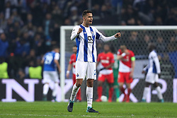 December 6, 2017 - Porto, Porto, Portugal - Porto's Mexican defender Diego Reyes celebrates during the UEFA Champions League Group G match between FC Porto and AS Monaco FC at Dragao Stadium on December 6, 2017 in Porto, Portugal. (Credit Image: © Dpi/NurPhoto via ZUMA Press)