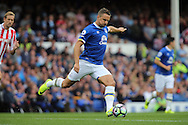 Phil Jagielka of Everton in action. Premier league match, Everton v Stoke city at Goodison Park in Liverpool, Merseyside on Saturday 27th August 2016.<br /> pic by Chris Stading, Andrew Orchard sports photography.
