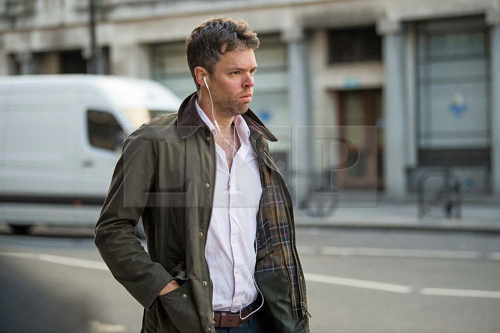 © Licensed to London News Pictures. 10/09/2020. London, UK. Liam Booth-Smith, 33, is the newly appointed chief of the No 10 and No 11 Downing Street economic advisory  team, is seen in Westminster, London. Photo credit: Ben Cawthra/LNP