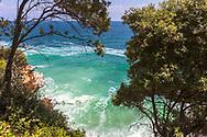 Tsagkarada, Pelion, Greece - July, 2021: Milopotamos Beach