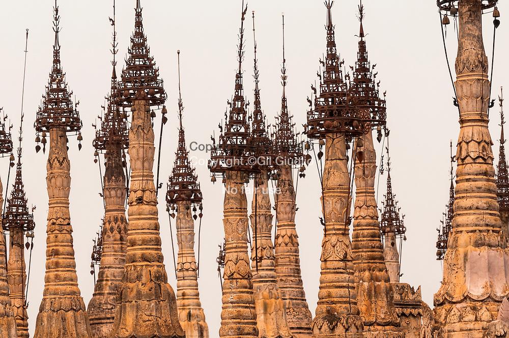 Myanmar, état shan, pays ethnie Pao, site archéologique et religieux pao de Kakku du 11e au 14e siècle // Myanmar, Shan state land, Pao ethny land, Pao archeologic and religious site of Kakku, 11th to 19th century