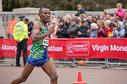 Tola Shura Kitata of Ethiopia during the elite mens race on The Mall during The Virgin London Marathon on 28th April 2019 in London in the United Kingdom. Now in it's 39th year The London Marathon is a large sporting event with over 40,000 runners expected to take part.