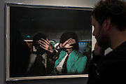 Work by Richard Hamilton in the Faggionato  Gallery - Frieze Masters 2014 - including a huge range of works from religious relics, through old masters to contemporary art with prices upto millions of pounds. Regents Park, London, 14 Oct 2014.