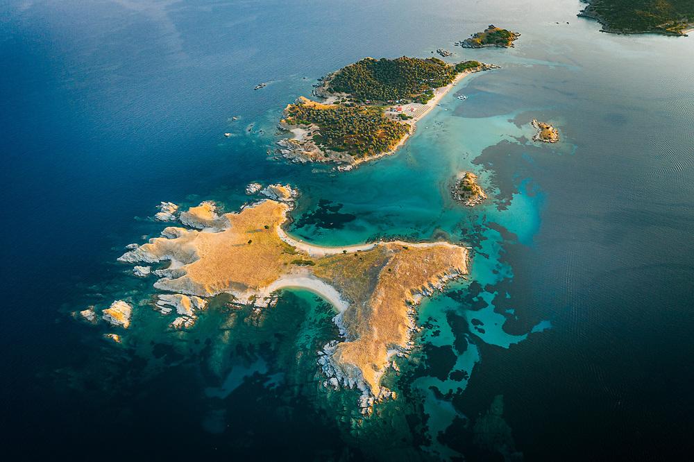 Drenia Islands (Donkey islands) near Ammouliani, Greece