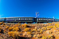 """Rovos Rail train  """"Pride of Africa"""" near Matjiesfontein on it's journey between Pretoria and Cape Town, South Africa."""
