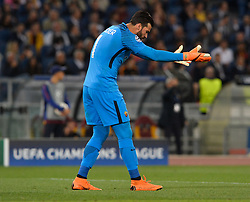 May 2, 2018 - Rome, Italy - Alisson Becker during the UEFA Champions League semifinal match between AS Roma and FC Liverpool at the Olympic stadium on may 02, 2018 in Rome, Italy. (Credit Image: © Silvia Lore/NurPhoto via ZUMA Press)
