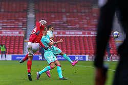 Lyle Taylor of Nottingham Forest shoots - Mandatory by-line: Nick Browning/JMP - 29/11/2020 - FOOTBALL - The City Ground - Nottingham, England - Nottingham Forest v Swansea City - Sky Bet Championship