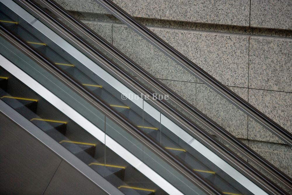 abstract view of two escalators