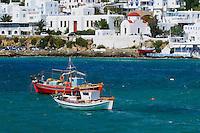 Grèce, Les Cyclades, Ile de Mykonos, Ville de Chora, le vieux port // Greece, Cyclades, Mykonos island, Chora, Mykonos town, old port