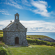 St Non's chapel and retreat on the Pembrokeshire coast near St David's, Britain's smallest city. St Non was mother to St David, patron saint of Wales.
