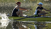 Caversham, Reading,  GBR W2- left Natasha HOWARD and Alison KNOWLES, GB Rowing Team Training at Redgrave Pinsent Lake, Engand [Credit Peter Spurrier/Intersport Images]  [Mandatory Credit, Peter Spurier/ Intersport Images]. , Rowing course: GB Rowing Training Complex, Redgrave Pinsent Lake, Caversham, Reading