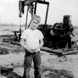 HS586  George W. Bush on a field trip with his dad to the oil fields, Midland, TX, circa 1955.<br /> Photo Credit:  George Bush Presidential Library