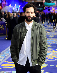 Marwan Kenzari attending the Aladdin European Premiere held at the Odeon Luxe Leicester Square, London.