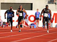 Friidrett , 6. juni 2008 , Golden League , Bislett Games<br /> <br /> Derrick Atkins , Marlon Devonish , Preston PERRY ,  100 meter