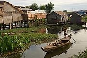 Chong Kneas floating fishing village on Tonle Sap Lake, Cambodia