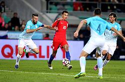 Dele Alli of England passes the ball through for Daniel Sturridge of England - Mandatory by-line: Robbie Stephenson/JMP - 11/10/2016 - FOOTBALL - RSC Stozice - Ljubljana, England - Slovenia v England - World Cup European Qualifier