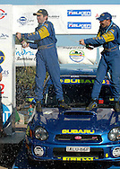 Cody Crocker & Greg Foletta - Portrait.Subaru Impreza WRX.Podium.2003 Falken Rally of Queensland.Imbul State Forest, QLD.13th-15th of June 2003 .(C) Joel Strickland Photographics