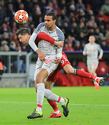 13.03.2019, CL, Champions League, Achtelfinale Rueckspiel, FC Bayern Muenchen vs FC Liverpool, Allianz Arena Muenchen , Fussball, Sport im Bild:..Joel Matip (FC Liverpool) stoppt Robert Lewandowski (FCB) ..DFL REGULATIONS PROHIBIT ANY USE OF PHOTOGRAPHS AS IMAGE SEQUENCES AND / OR QUASI VIDEO...Copyright: Philippe Ruiz..Tel: 089 745 82 22.Handy: 0177 29 39 408.e-Mail: philippe_ruiz@gmx.de (Credit Image: © Philippe Ruiz/Xinhua via ZUMA Wire)