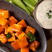 Buffalo Tofu Bites with Vegan Ranch Dressing. Nathan Lambrecht/Journal Communications