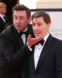 (L-R) LEE MACK AND ROB BRYDON arrives for the BAFTA TV Awards at the Theatre Royal, London, United Kingdom. Sunday, 18th May 2014. Picture by i-Images