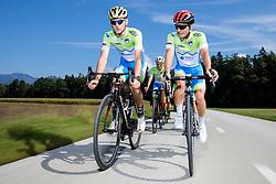 Matej Mohoric and Jan Polanc during photo session of Slovenian Cycling Team for 2018 UCI Road World Championships Innsbruck, on September 17, 2018 in Zgornji Brnik, Slovenia. Photo by Matic Klansek Velej / Sportida
