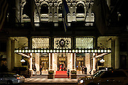 The Plaza Hotel located next to Central Park and the Grand Army Plaza in Manhattan.