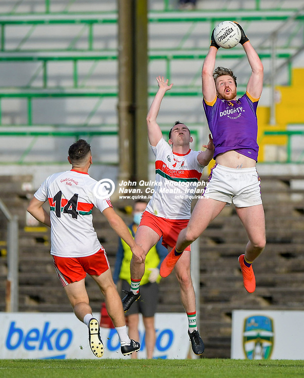 Cian O'Neill, claims a high ball for Wolf Tones,   in the Gaeil Colmcille v Wolfe Tones, 2020 Feis Cup Final match, at Páirc Tailteann, Navan.<br /> <br /> Photo: GERRY SHANAHAN-WWW.QUIRKE.IE<br /> <br /> 02-08-2021