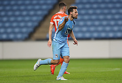 Coventry City's Tony Andreu celebrates scoring their first goal