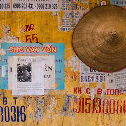 Advertisment on wall, Vietnam - Hanoi