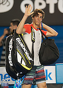 17 year old Australian teen Thanasi Kokkinakis met the number one men's player in the world, R. Nadal (ESP) in day 4 play of the 2014 Australian Open. Nadal went on to win the match 6-2, 6-4, 6-2.
