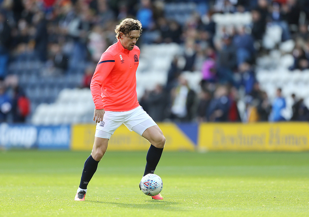 Blackburn Rovers' Sam Gallagher during the pre-match warm-up <br /> <br /> Photographer Rich Linley/CameraSport<br /> <br /> The EFL Sky Bet Championship - Preston North End v Blackburn Rovers - Saturday 26th October 2019 - Deepdale Stadium - Preston<br /> <br /> World Copyright © 2019 CameraSport. All rights reserved. 43 Linden Ave. Countesthorpe. Leicester. England. LE8 5PG - Tel: +44 (0) 116 277 4147 - admin@camerasport.com - www.camerasport.com