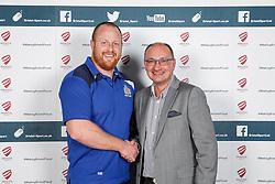 Ross McMillan of Bristol Rugby poses during the Player Sponsors' Dinner in the Heineken Lounge at Ashton Gate - Mandatory byline: Rogan Thomson/JMP - 08/02/2016 - RUGBY UNION - Ashton Gate Stadium - Bristol, England - Bristol Rugby Player Sponsors' Dinner.