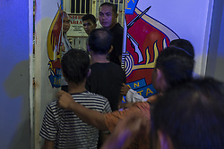May 6, 2017 - Pekanbaru, Indonesia - Indonesian police recapture an escaped inmate from the jail in Pekanbaru, Riau province, on May 6, 2017. About 200 inmates broke out of an overcrowded prison in western Indonesia on May 5, rushing out of the jail after they were let out of their cells to pray, officials said. (Credit Image: © Afrianto Silalahi/NurPhoto via ZUMA Press)