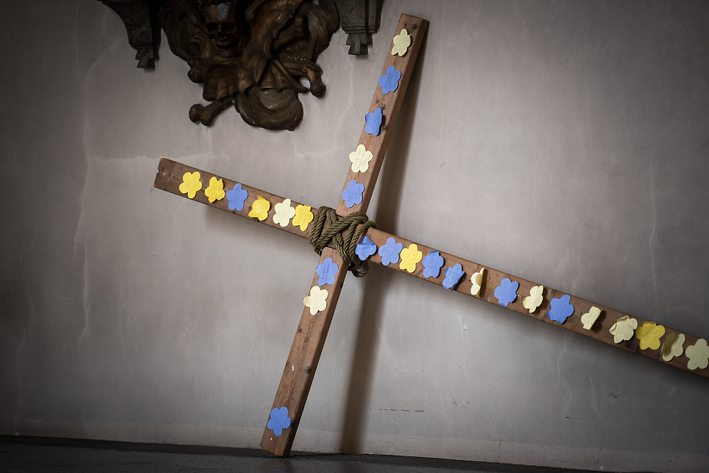 16 April 2017, Stockholm, Sweden: Easter day in the Clara Church, Church of Sweden.
