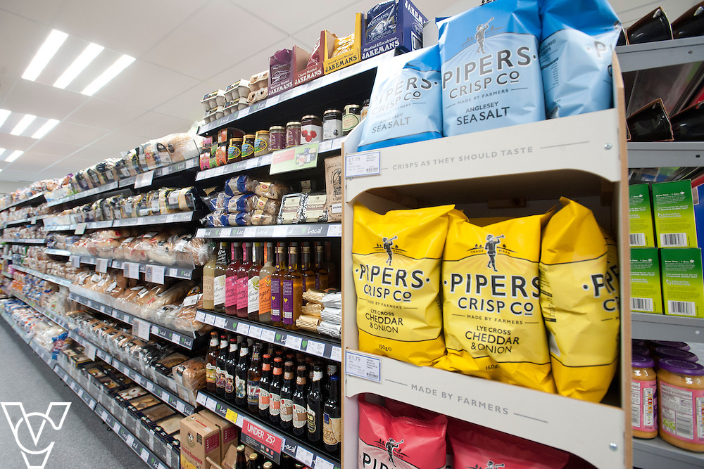 Official opening of the Lincolnshire Co-operative's new foodstore in Dunholme.<br /> <br /> Pictured is some of the Love Local range in store<br /> <br /> Thursday, October 23, 2014