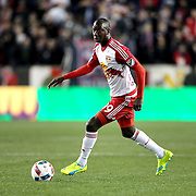 Bradley Wright-Phillips, New York Red Bulls, in action during the New York Red Bulls Vs Houston Dynamo, Major League Soccer regular season match at Red Bull Arena, Harrison, New Jersey. USA. 19th March 2016. Photo Tim Clayton