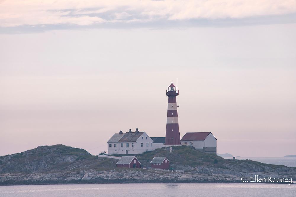 The Landegode Lighthouse near Bodo on the northwest coast of Norway.