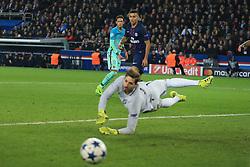 14 February 2017 - UEFA Champions League - (Round of 16) - Paris Saint Germain v FC Barcelona - Neymar of FC Barcelona looks on as his shot drifts wide - Photo: Marc Atkins / Offside.
