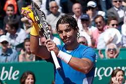 14.04.2010, Country Club, Monte Carlo, MCO, ATP, Monte Carlo Masters, im Bild Rafael Nadal (ESP) in action during the second. EXPA Pictures © 2010, PhotoCredit: EXPA/ M. Gunn / SPORTIDA PHOTO AGENCY