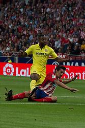 October 28, 2017 - Madrid, Spain - Bakambu fails a clear ocassion of goal..Draw at 1 in Wanda Metropolitano stadium. (Credit Image: © Jorge Gonzalez/Pacific Press via ZUMA Wire)