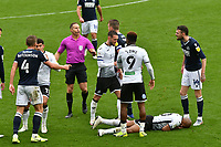 Football - 2020 / 2021 Sky Bet Championship - Swansea City vs Birmingham City - Liberty Stadium<br /> <br /> referee Mr  D.Webb in control  as a melee breaks out after André Ayew of Swansea City isbrought down by Alex Pearce of Millwall