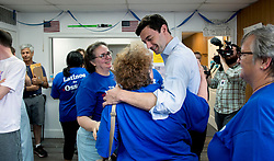 June 11, 2017 - Chamblee, Georgia, U.S. -  JON OSSOFF, the Democratic candidate for Congress in Georgia's Sixth District, thanks volunteers at the Chamblee field office of Jon Ossoff for Congress. The special election is June 20.(Credit Image: © Brian Cahn via ZUMA Wire)